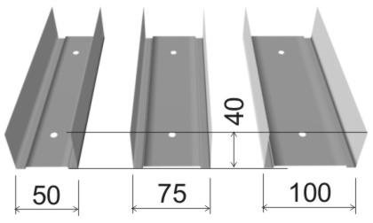 Размеры направляющего крепления ПН (UW)