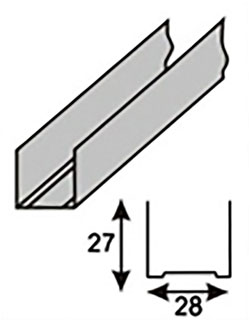 Направляющий потолочный ПН (UD)
