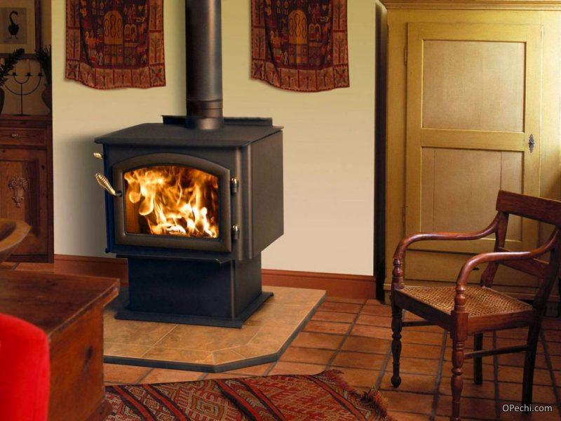 Фирменная печь-камин длительного горения