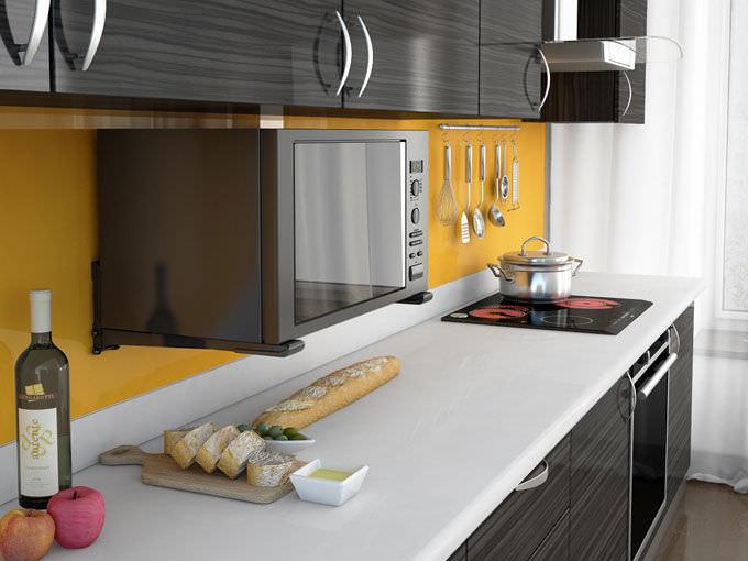 Расположение микроволновой печи на кухне