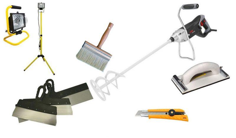 Инструменты для поклейки гипсокартона