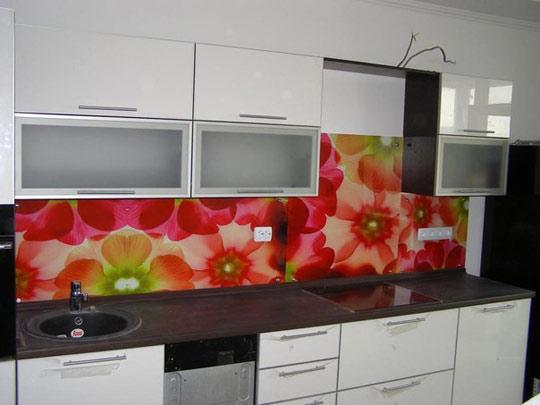 Дизайн кухонного фартука ХДФ