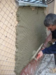 Оштукатуривание цементным раствором