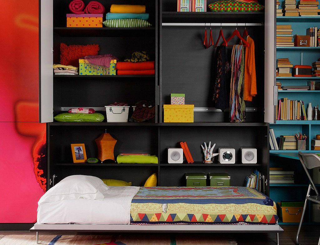 Откидная шкаф-кровать трансформер для подростка