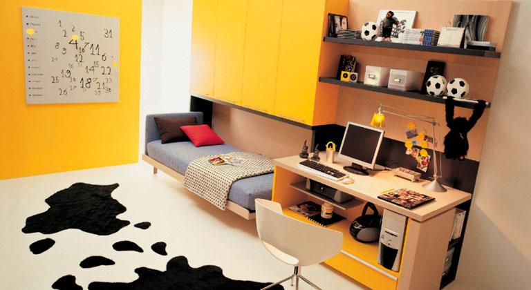 Фото шкаф кровати в интерьере комнаты ребёнка подростка