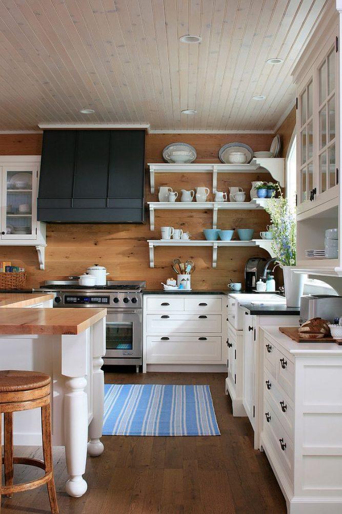 Фартук из ламината на кухне в стиле прованс