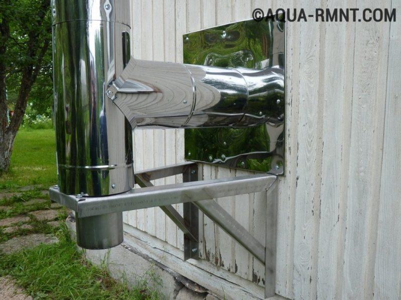 Монтаж стального дымохода для камина
