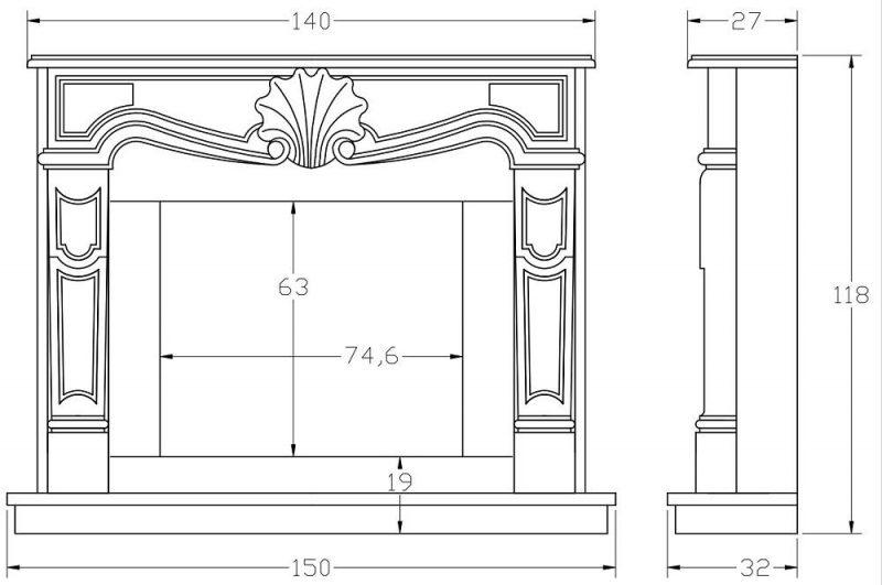Выбирать размеры будущего камина следует, исходя из площади помещения и его конструкционных особенностей