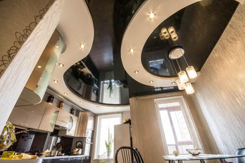 Гипсокартонный и натяжной потолок