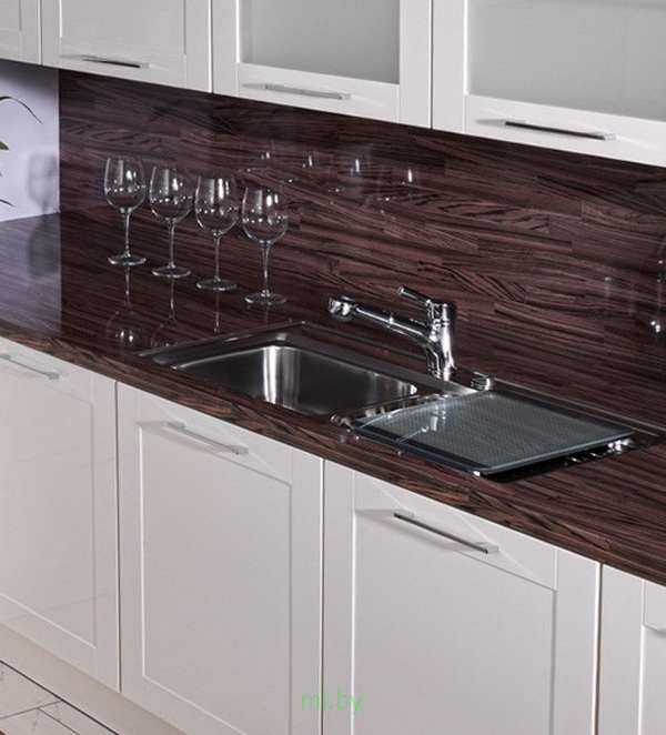 Какое расстояние между нижними и верхними шкафами кухни. Фото-10