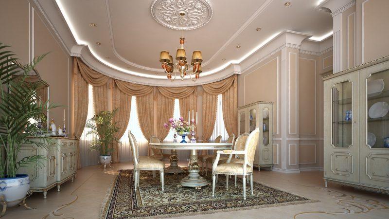 Гостиная с эркером в стиле Прованс