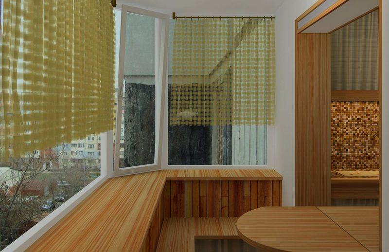 Красивая отделка балкона