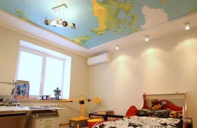 Обои для дизайна гипсокартонных потолков