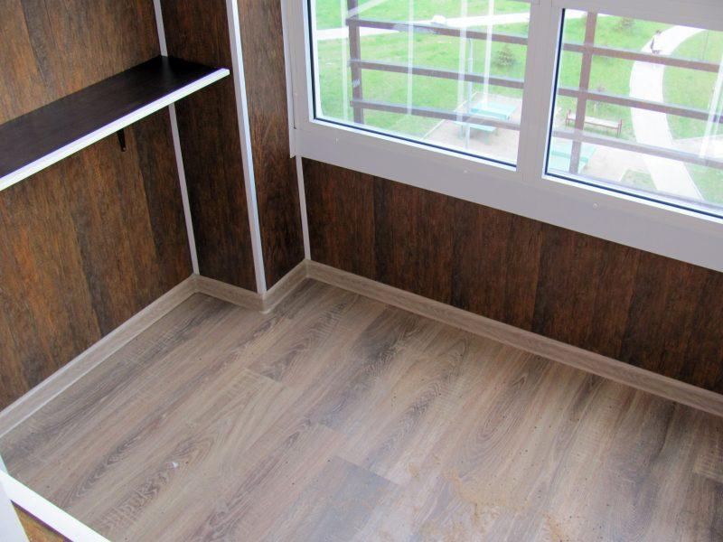 Отделка балкона с помощью МДФ панелей