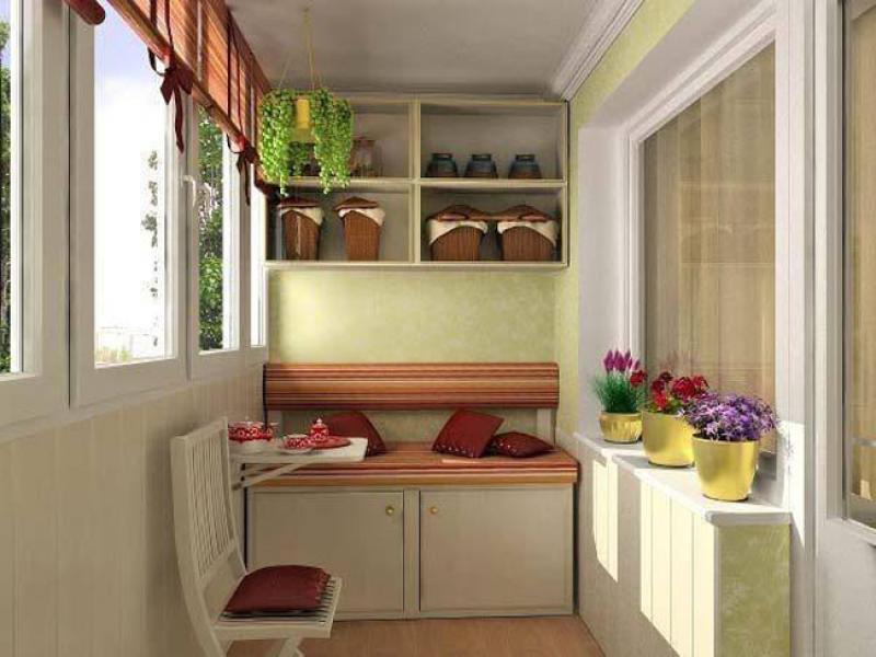 Выбор мебели на балкон