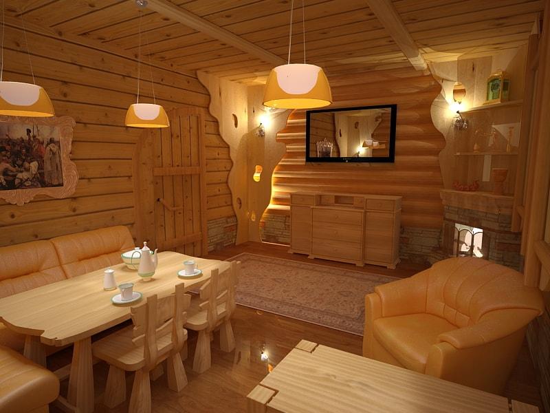Дизайн бани внутри фото оформления