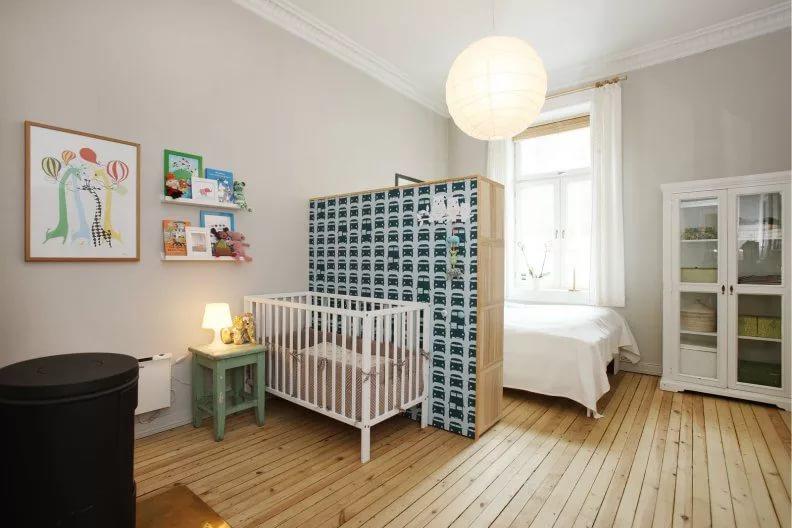 спальня и детская в одной комнате фото дизайна