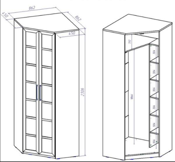 Корпусный переносной шкаф