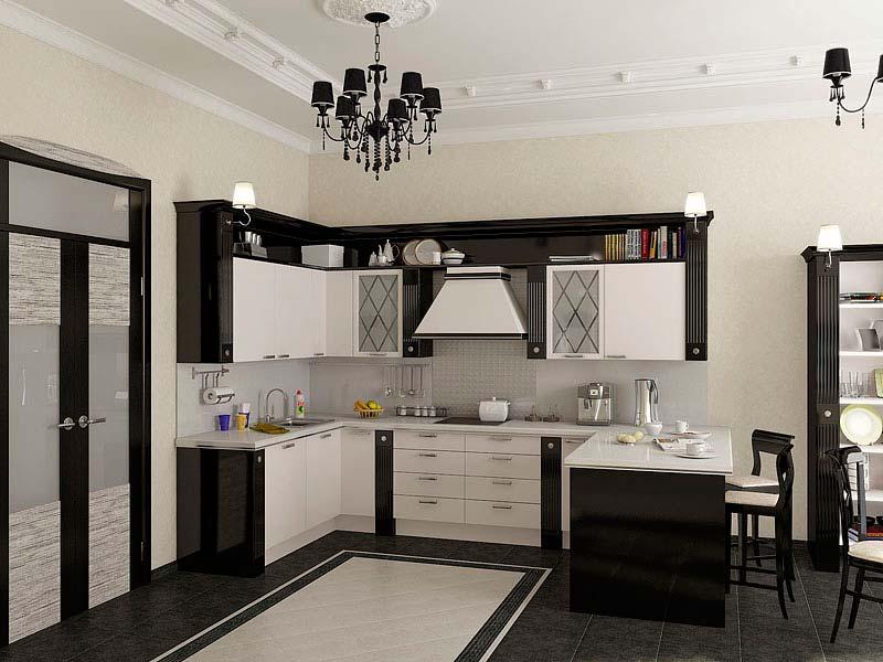 Угловая кухня гостиная