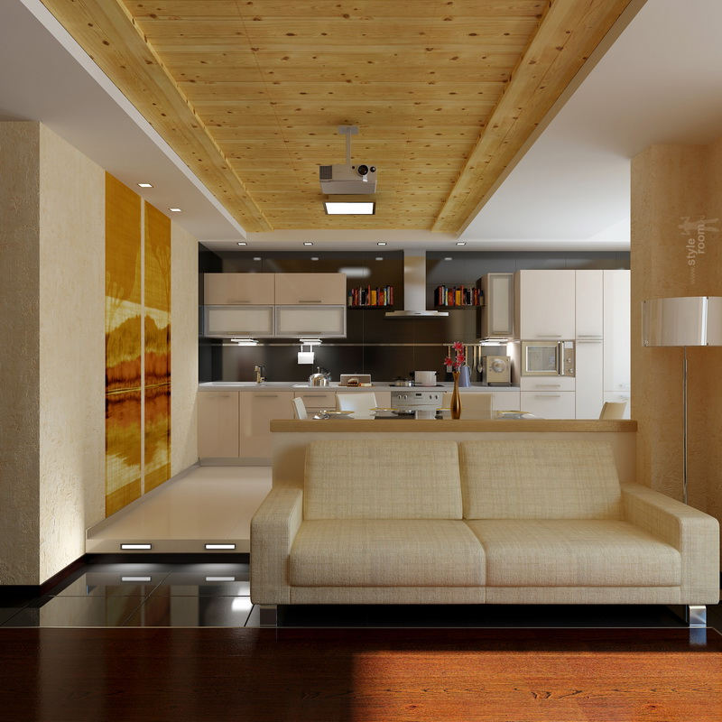 кухня совмещенная с залом фото идеи