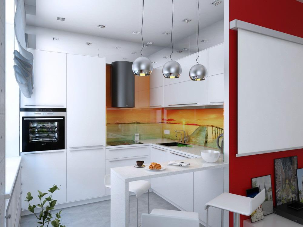 кухонный гарнитур с барной стойкой фото интерьер