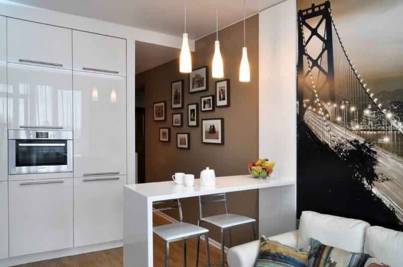 маленькая кухня гостиная фото идеи