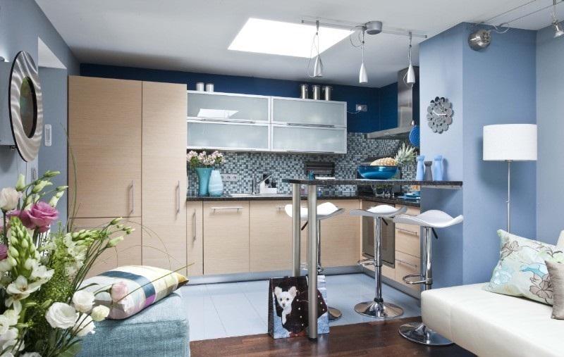 маленькая кухня гостиная оформление