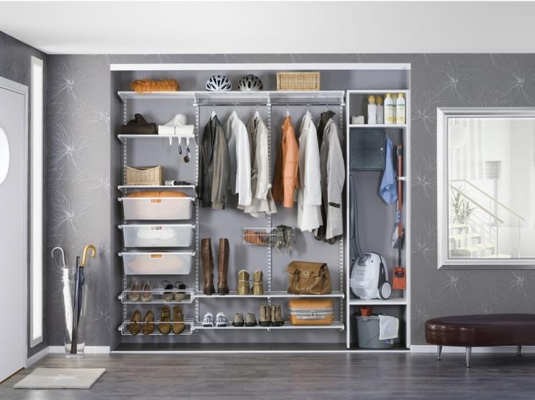 наполнение шкафов купе: фото с размерами - вместительный шкаф в прихожей с достаточным количеством полок для сезонной одежды