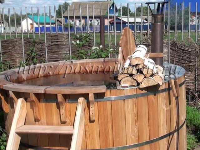 Деревянная купель с обогревом
