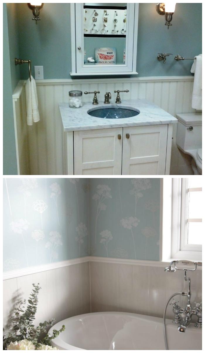 Отделка ванной пластиковыми панелями в стиле Прованс