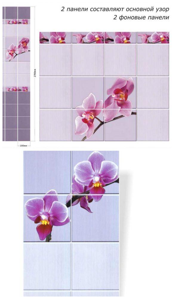 Отделка ванной пластиковыми панелями с фризом | имитацией кафельной плитки