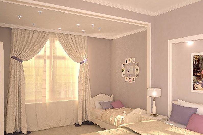 Дизайн спальни и детской в одной комнате - Цветовые решения
