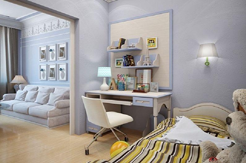 Дизайн спальни и детской в одной комнате - Отделка пола