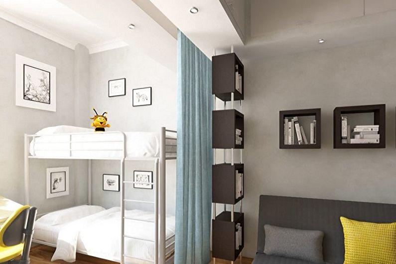 Дизайн спальни и детской в одной комнате - Как выбрать мебель