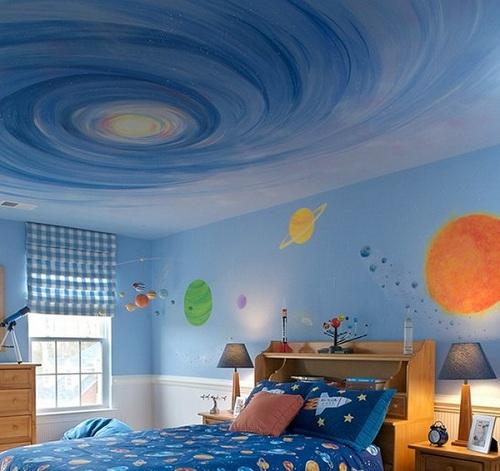 потолок детской мальчика
