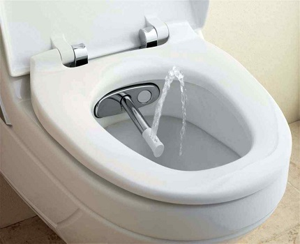 Модель туалета с аэратором