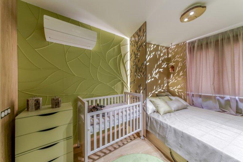 меблирование спальни с кроваткой