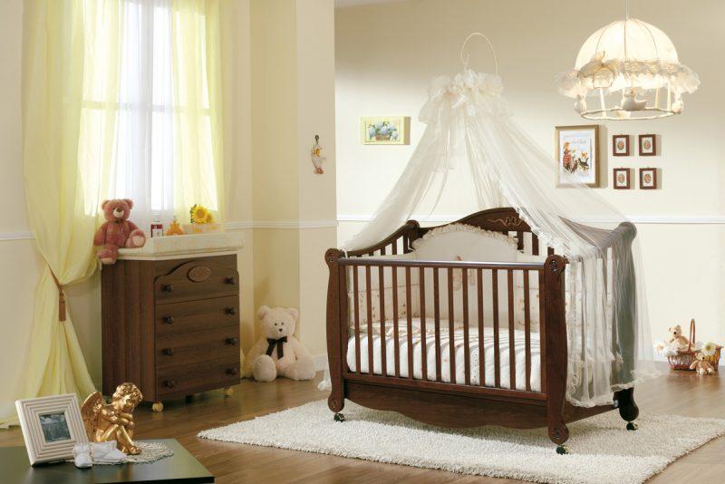 кроватка в спальне родителей