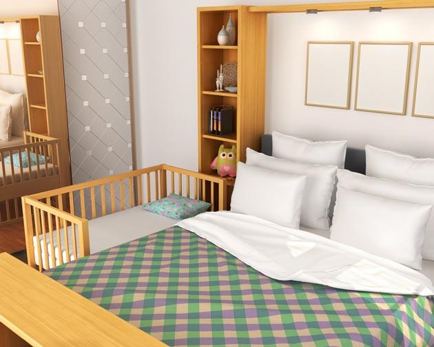 прикроватная кровать новорождённого