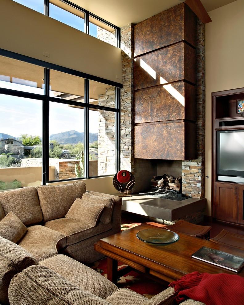 Камин должен вписываться в основной дизайн вашего жилья. Облицовка камнем для стиля контемпорари, например, стала уже в некотором роде вариантом по умолчанию