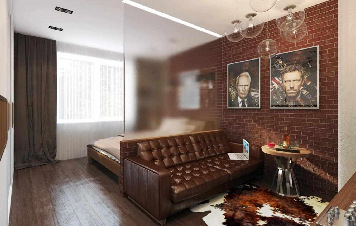 вариант красивого декора гостиной комнаты 17 кв.м