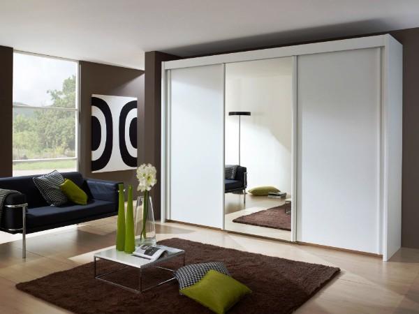 зеркальные шкафы купе в гостиную