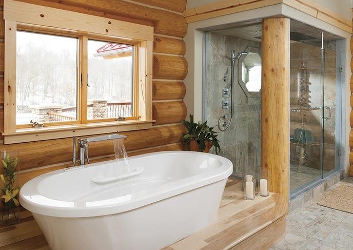 установленная ванная