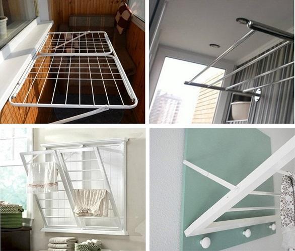 виды балконных сушилок