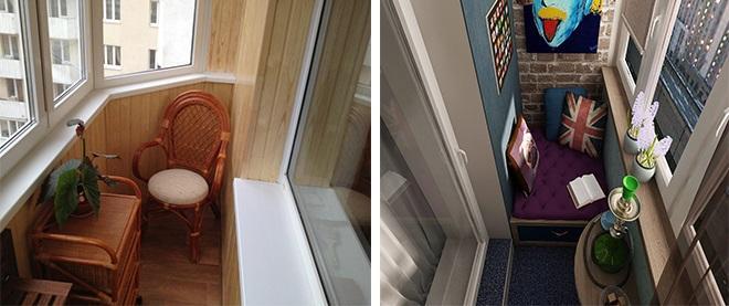 Варианты дизайна маленького балкона