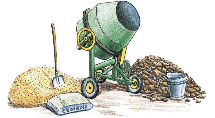 Цемент песок и щебень