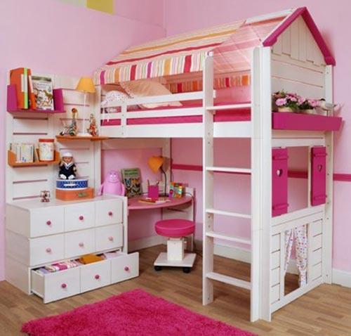 Двухъярусная практичная кровать для двух детей