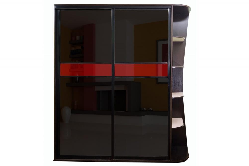 Глянцевый шкаф венге