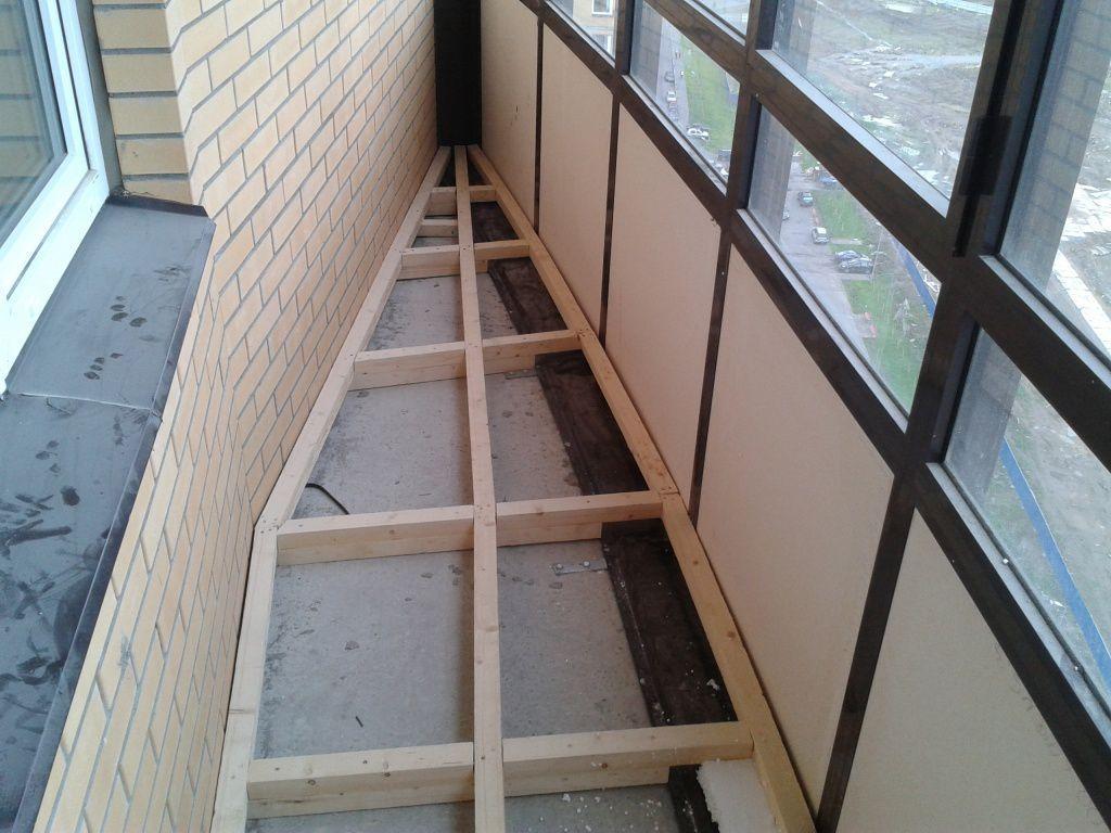 ремонт балконного пола