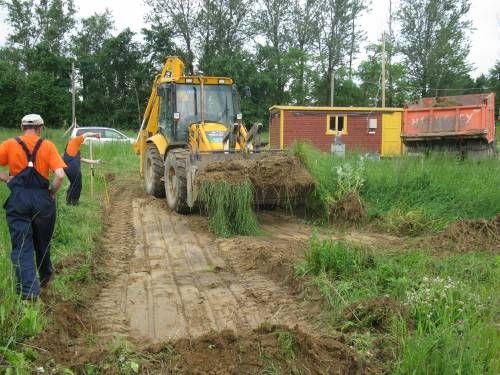 Подготовка участка к постройке бани